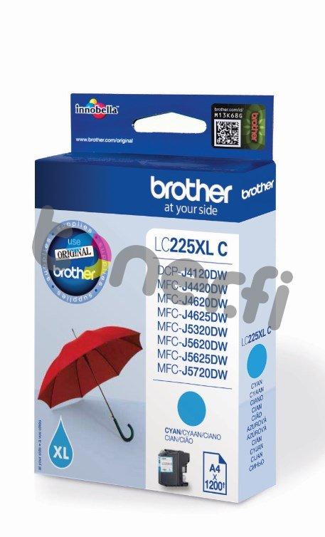 Brother LC225XL-C Muste Sininen
