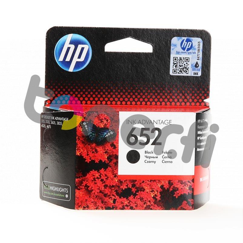 HP 652 Musta Muste N:o F6V25AE