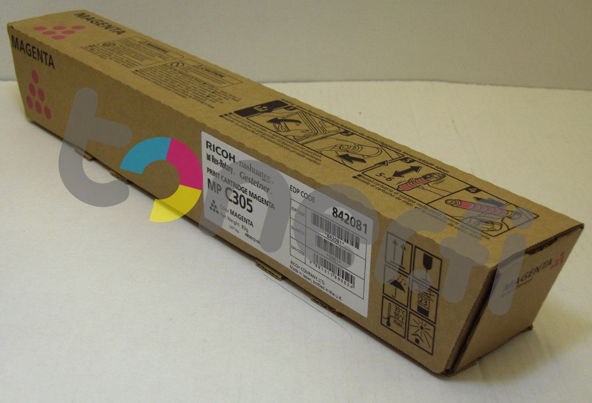 Ricoh MP C305 Print Cartr. Punainen