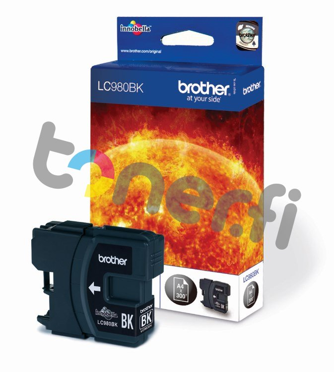 Brother LC970BK Muste Musta