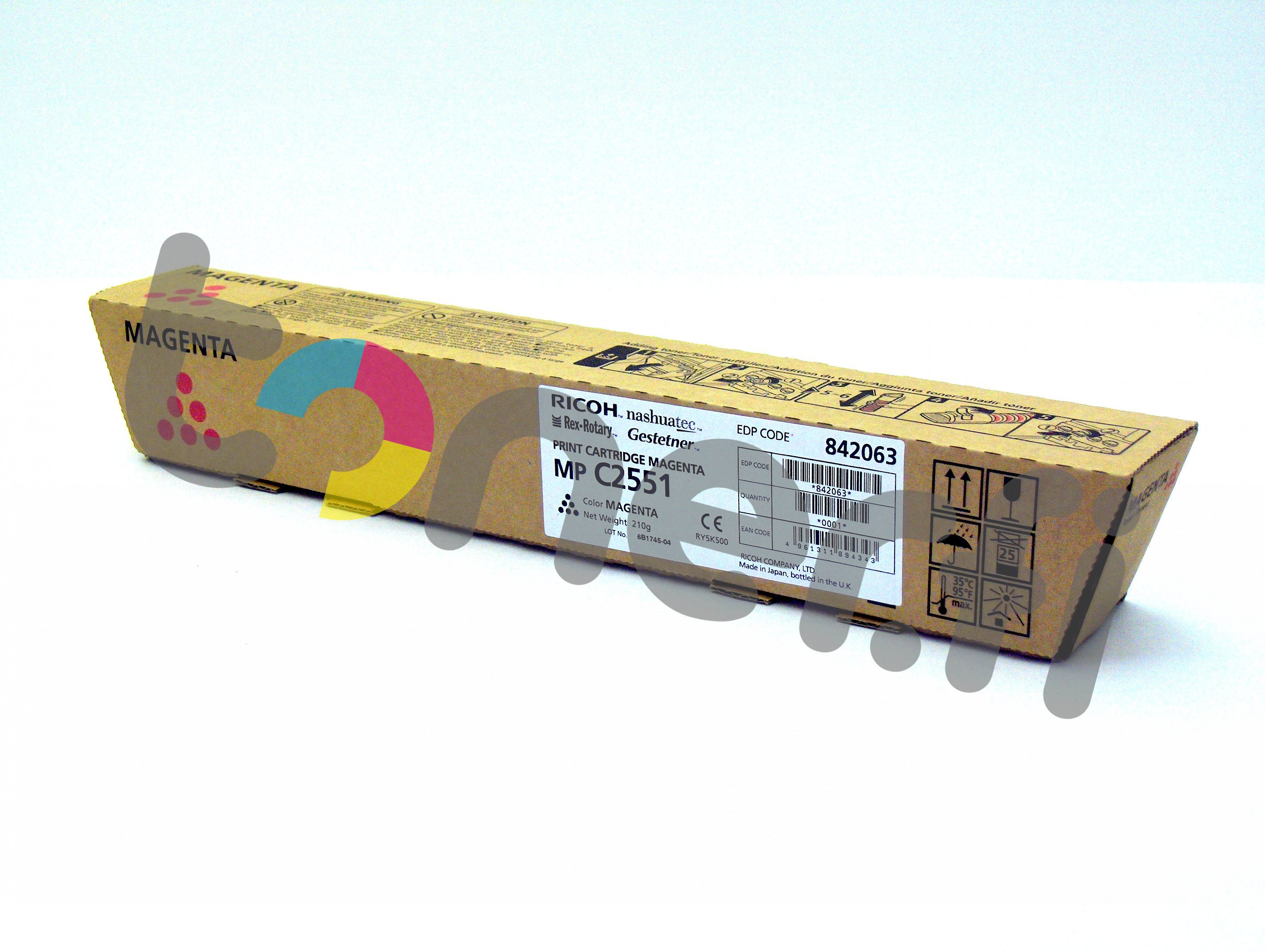 Ricoh MP C2551HE Print Cartr. Punainen