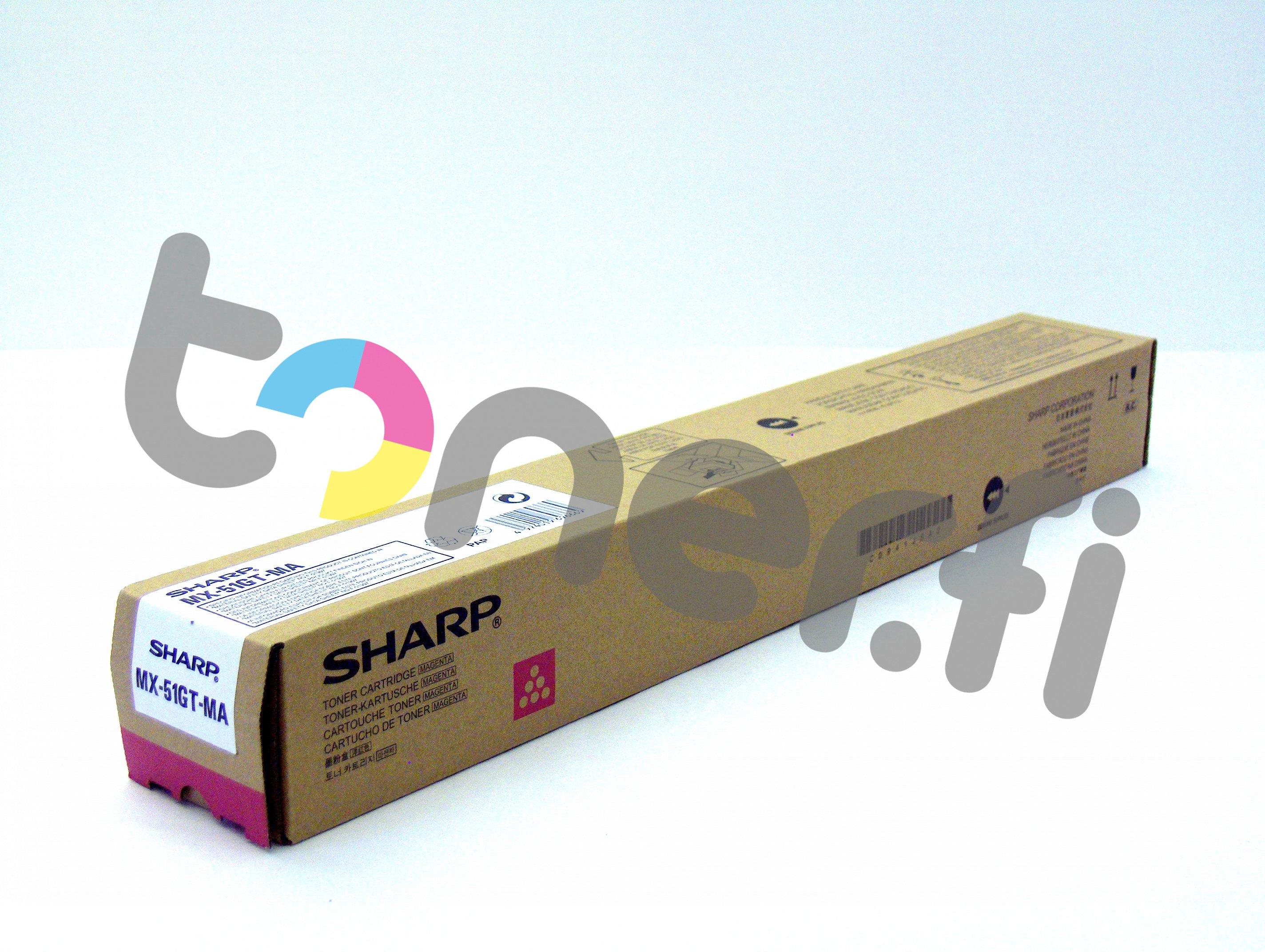 Sharp MX-51GTMA Värikasetti Punainen