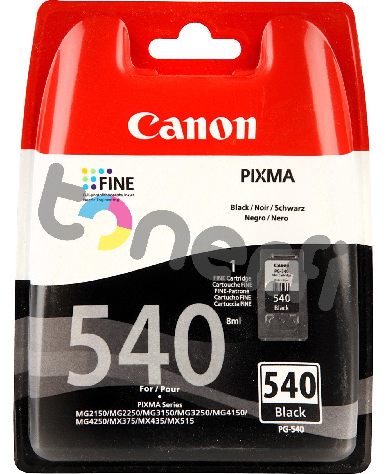 Canon PG-540 Musta Muste