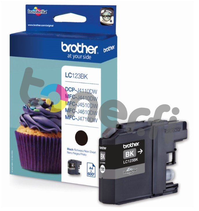 Brother LC123BK Muste Musta
