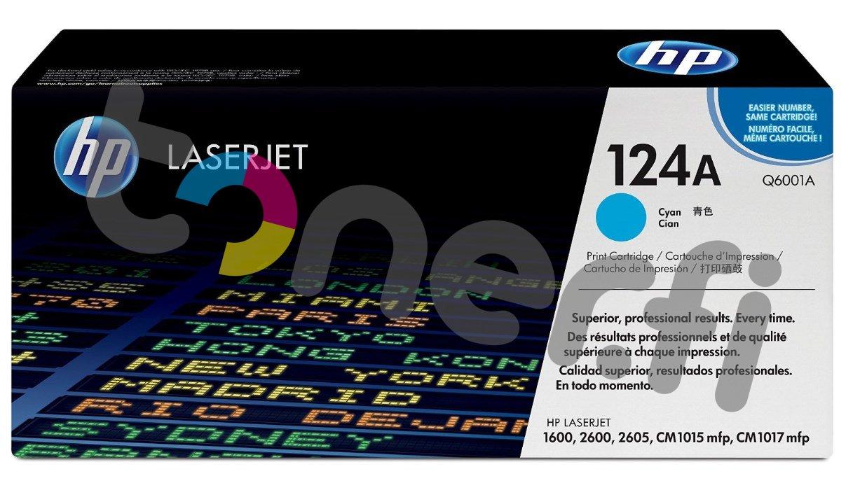 HP Q6001A Värikasetti Sininen 124A