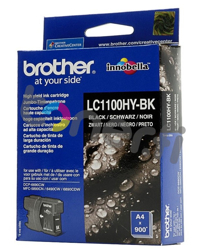 Brother LC1100HY-BK Muste Musta