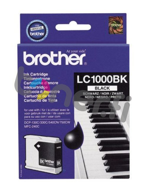 Brother LC1000BK Muste Musta