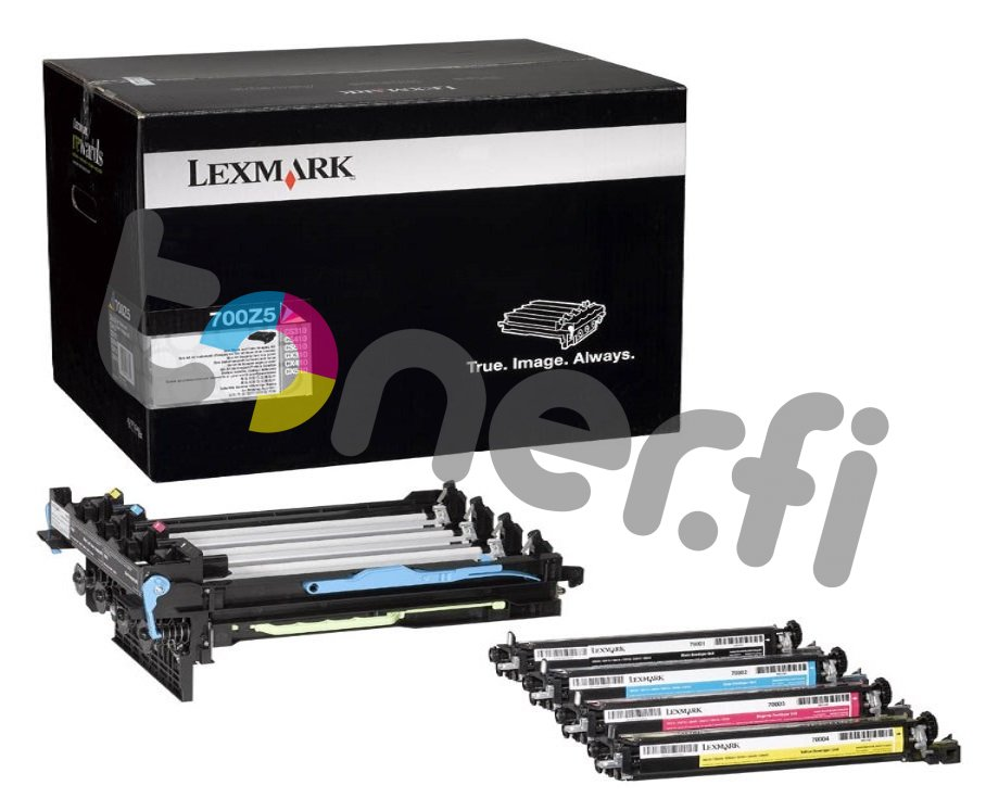 Lexmark 700Z5 Imaging Kit Musta and Väri