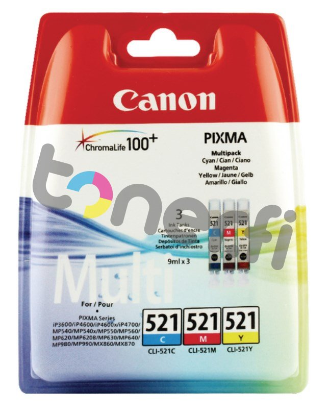 Canon CLI-521 Multi-Pack C/M/Y