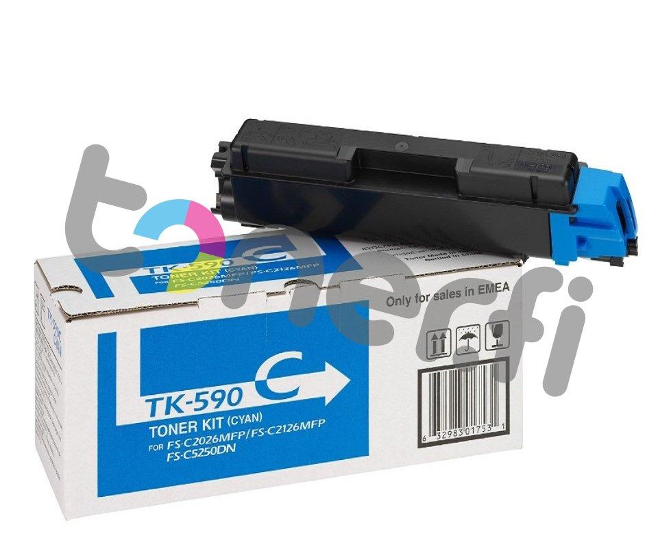 Kyocera TK-590C Värikasetti Sininen
