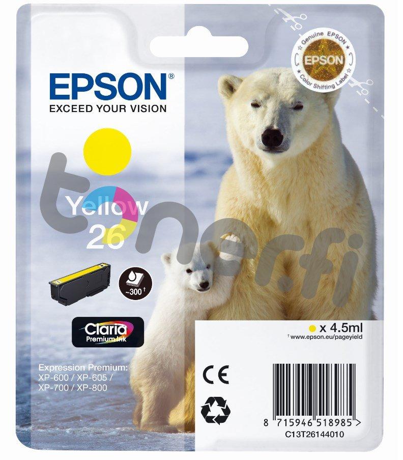 Epson C13T26144010 Muste Keltainen
