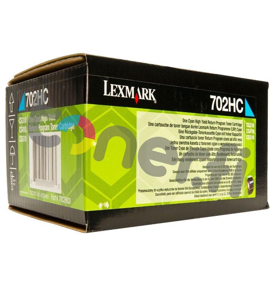 Lexmark 702HC Värikasetti Sininen 70C2HC0