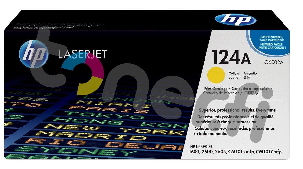 HP Q6002A Värikasetti Keltainen 124A