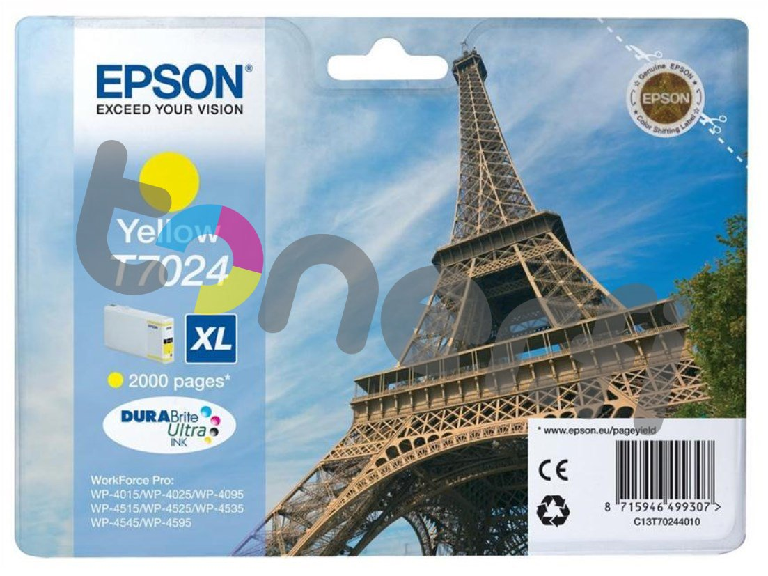 Epson C13T70244010 XL Muste Keltainen
