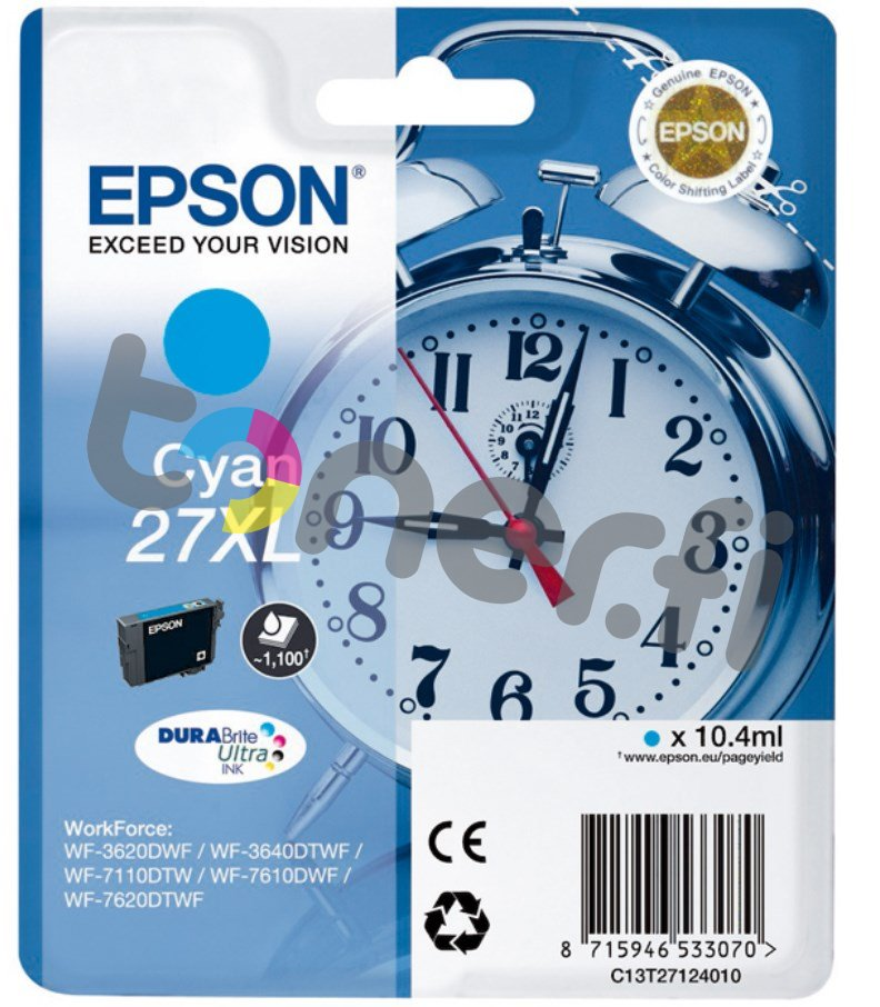 Epson C13T27124010 XL Muste Sininen
