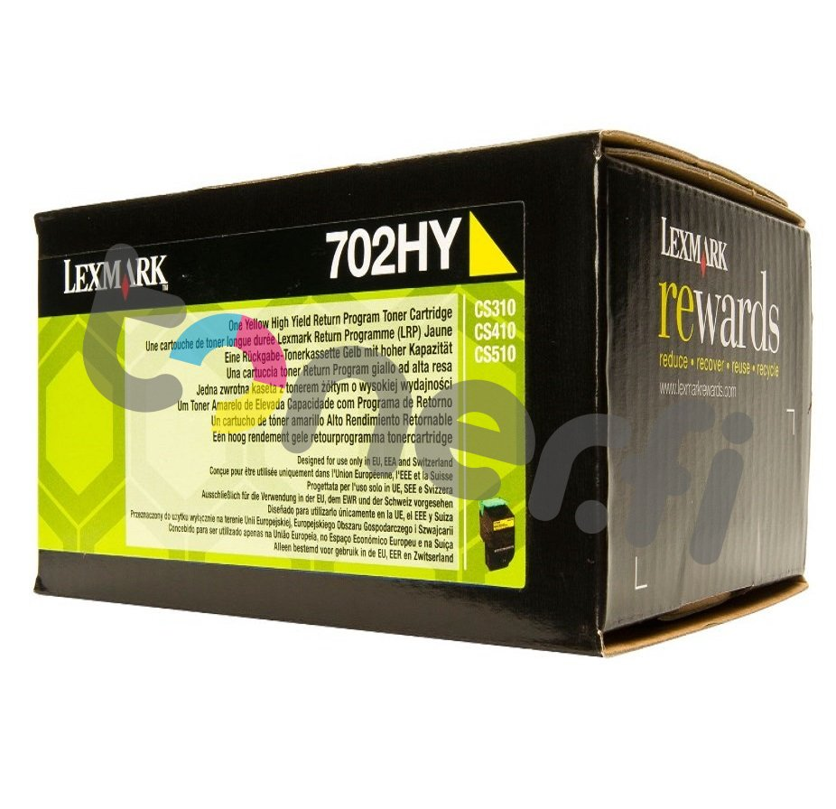 Lexmark 702HY Värikasetti Keltainen 70C2HY0
