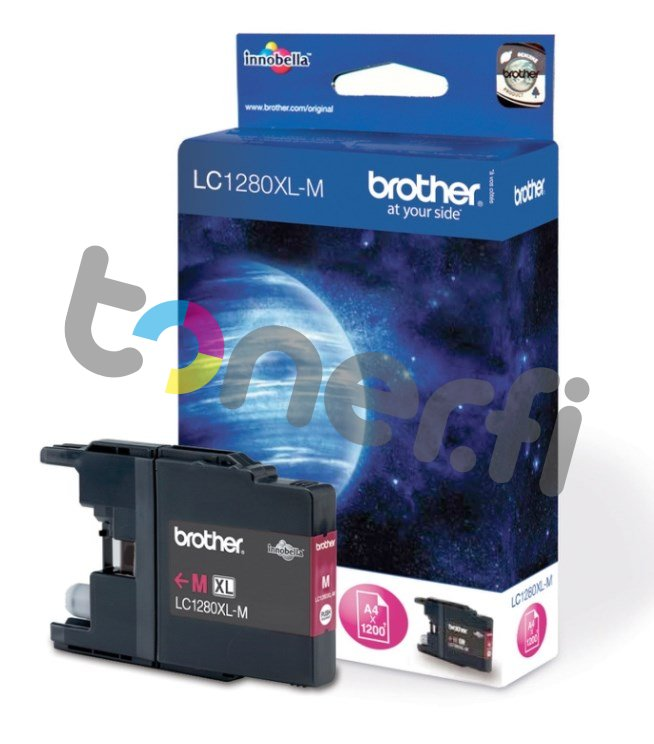 Brother LC1280XL-M Muste Punainen