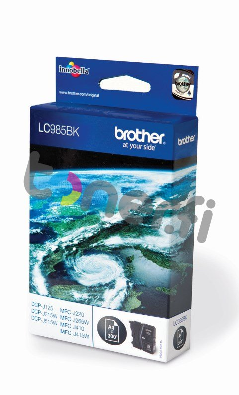 Brother LC985BK Muste Musta