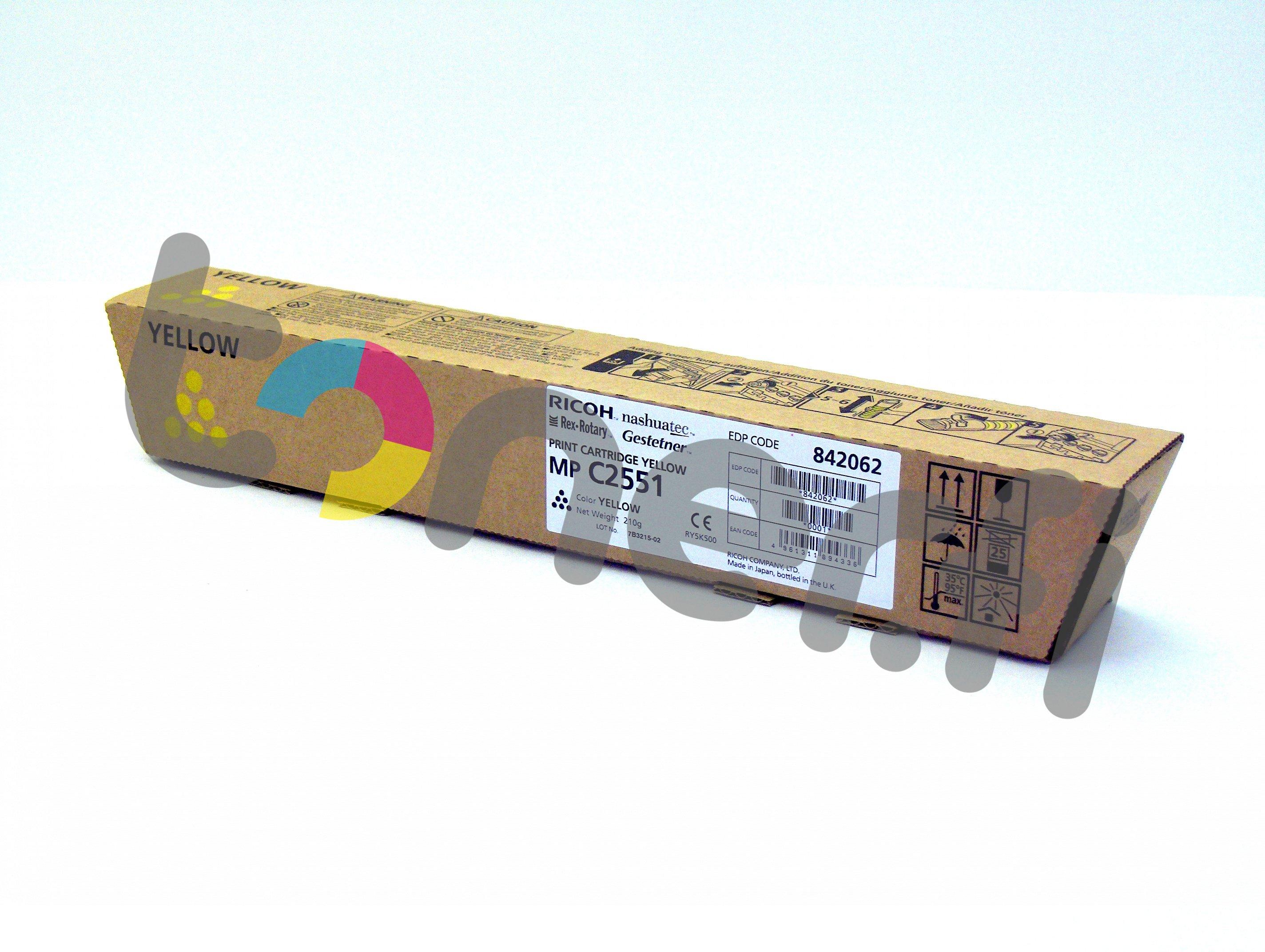 Ricoh MP C2551HE Print Cartr. Keltainen