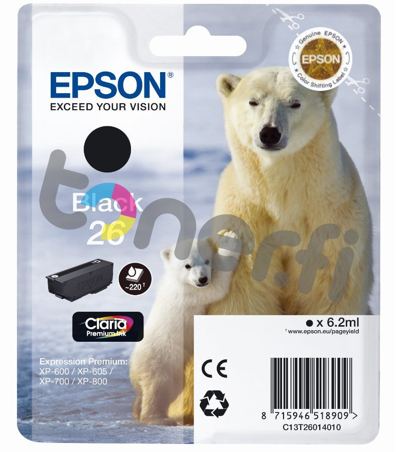 Epson C13T26014010 Muste Musta