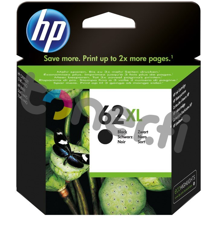 HP C2P05AE Musta Muste N:o 62XL